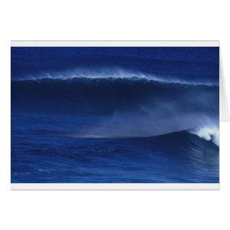Blue ocean wave card