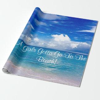Blue Ocean  Wrapping Paper  A Girls Gotta Go