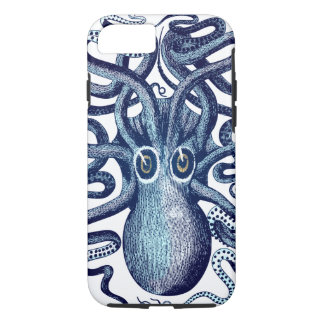 Blue Octopus Sea Monster iPhone 8/7 Case