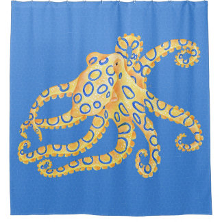 Blue Octopus Stained Glass