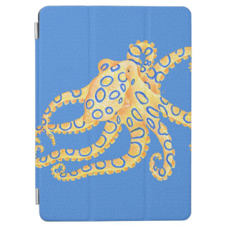 Blue Octopus Stained Glass iPad Air Cover