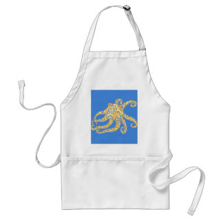 Blue Octopus Stained Glass Standard Apron