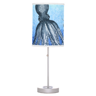Blue Octopus Table Lamp