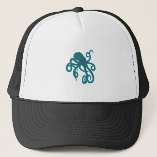 Blue Octopus Trucker Hat