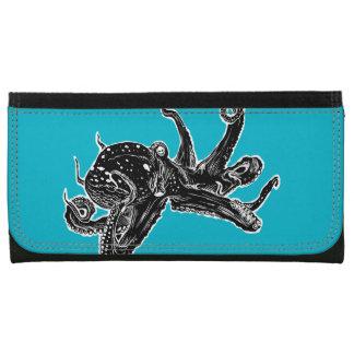 Blue Octopus Wallet Illustration Art