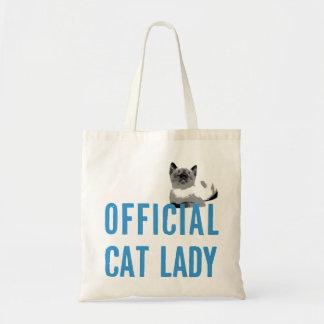 Blue Official Cat Lady Bag