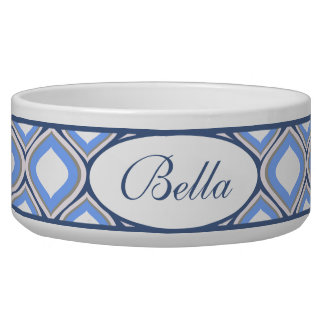 Blue Ogee Personalized Ceramic Dog Bowl