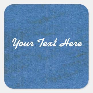 Blue Oil Pastel Square Sticker | Customize