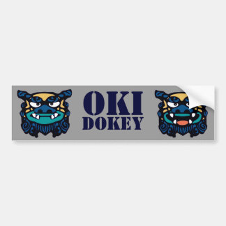 Blue Oki Dokey Bumper Sticker