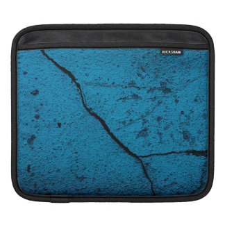 Blue old cracked wall background iPad sleeves