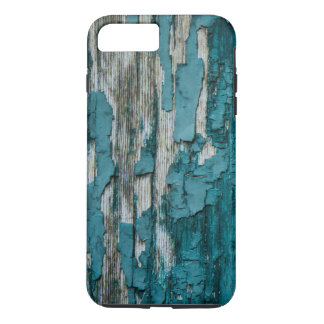 Blue Old Peeling Paint Wood Wall Texture iPhone 7 Plus Case