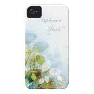 Blue olive green foliage birds iphone 4 case