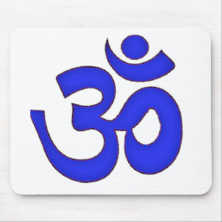 BLUE om,aum,sanskrit, mantra, yoga, tantra Mouse Pad
