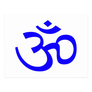 Blue Om or Aum ॐ.png Postcard