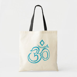 "Blue ""Om"" Small Tote Bag"