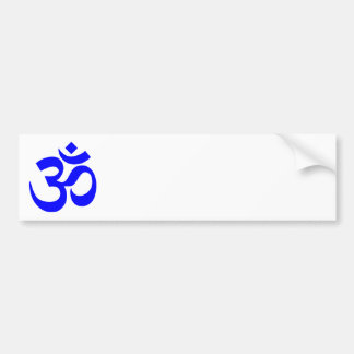 Blue Om Symbol Bumper Sticker