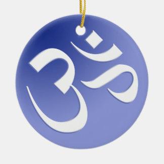 Blue Om Symbol Ornament