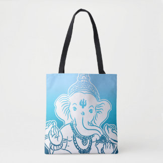 Blue Ombre Ganesh Bag / Tote