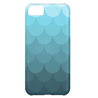 Blue Ombre Scallop Pattern Cover For iPhone 5C