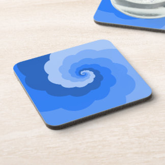 Blue Ombre Spiral Coasters (set of 6)