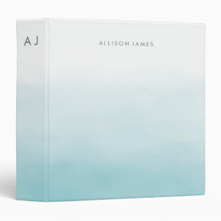 Blue Ombre Vinyl Binder