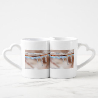 blue on an icy day coffee mug set