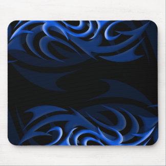 "Blue on Black ""Smoke"" Mousepad"