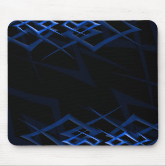 "Blue on Black ""Thorn"" Mousepad"