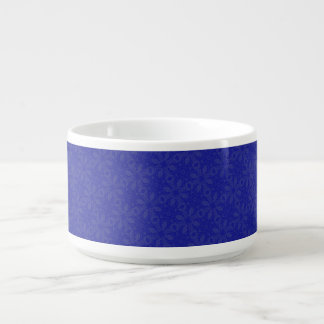 Blue on Blue Abstract Bowl