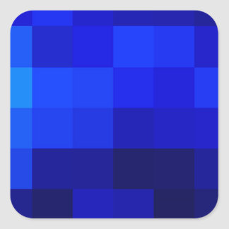 blue on blue collections square sticker