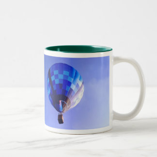 Blue on Blue I Two-Tone Coffee Mug