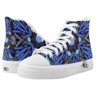 Blue opal bloom high tops