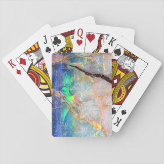 Blue Opal Print Playing Cards