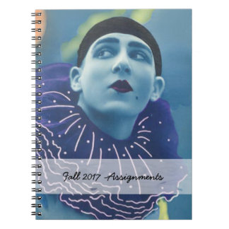 Blue Opera Clown Spiral Notebook