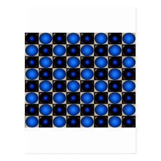 Blue Optical Illusion Chess Board CricketDiane Postcard