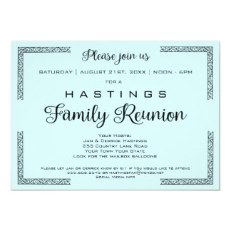 Blue or Any Color Family Reunion Invitation