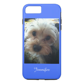 Blue or CHOOSE YOUR COLOR Cute Yorkie iPhone 7 Plus Case