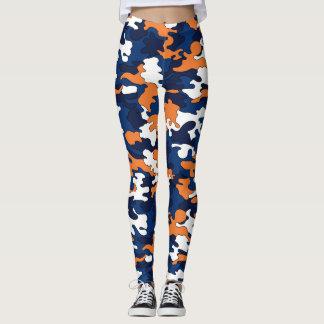 Blue & Orange Camo Leggings
