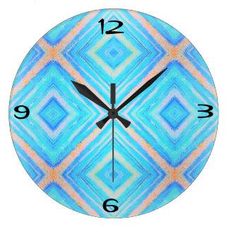 Blue orange clock