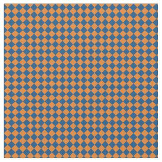 Blue & Orange Harlequin Fabric