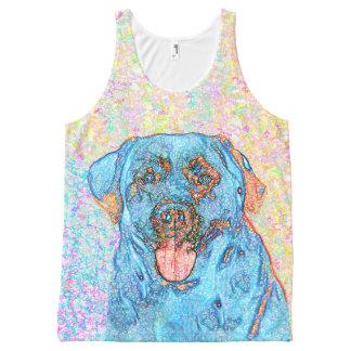 Blue Orange Labrador Psychedelic Retriever
