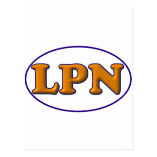 Blue Orange LPN Post Cards