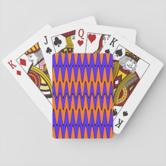 Blue & Orange Optical Illusion Poker Deck
