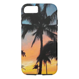 Blue & Orange Palm Tree Sunset iPhone 8/7 Case
