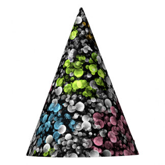 Blue Orange Pink Lime Green Polka Dots Pattern Party Hat