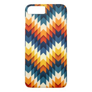 Blue Orange Red White Chevron Zigzag Case