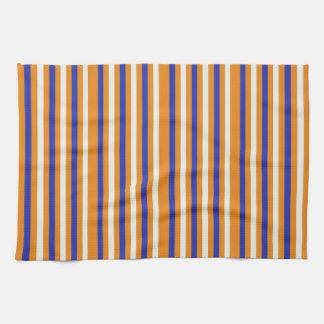 Blue Orange Striped Kitchen Towel