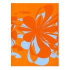 Blue Orange Surf's Up Postcard
