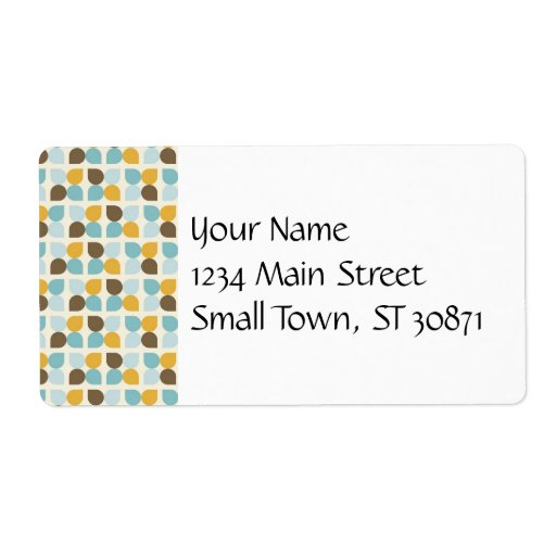 Blue Orange Tan Fall Colors Leaf Pattern Personalized Shipping Label