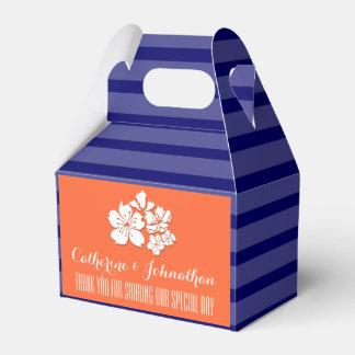 Blue orange wedding cherry blossom favors wedding favor box